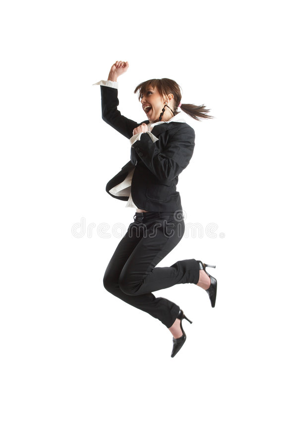 Download Jumping stock image. Image of corporate, isolated, person - 2141725