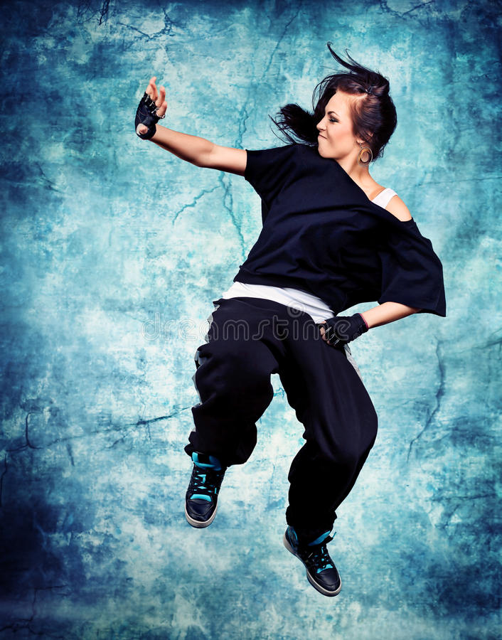 Download Jumping stock photo. Image of fashion, happy, girl, action - 22026390