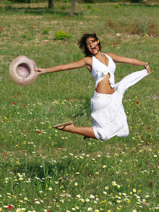 jumping royalty free stock photo