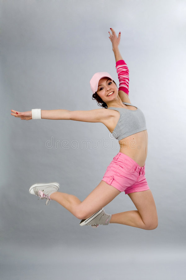 Download Jumping stock photo. Image of split, aerobics, excitement - 8719526