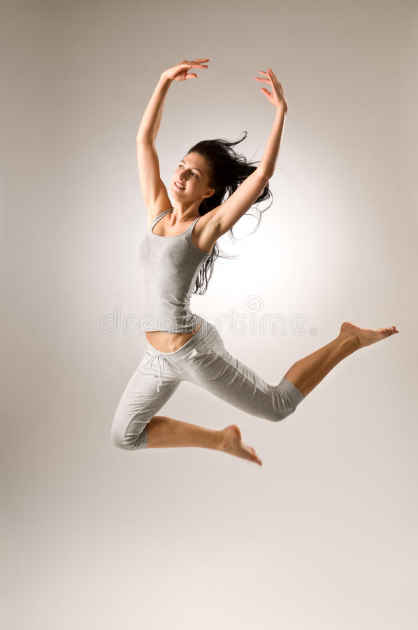 Download Jumping Attractive Girl stock photo. Image of hair, youth - 20305278