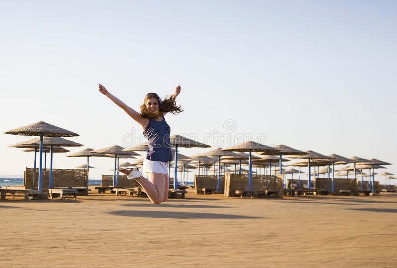 Download Jumping On The Beach Stock Photography - Image: 20958812