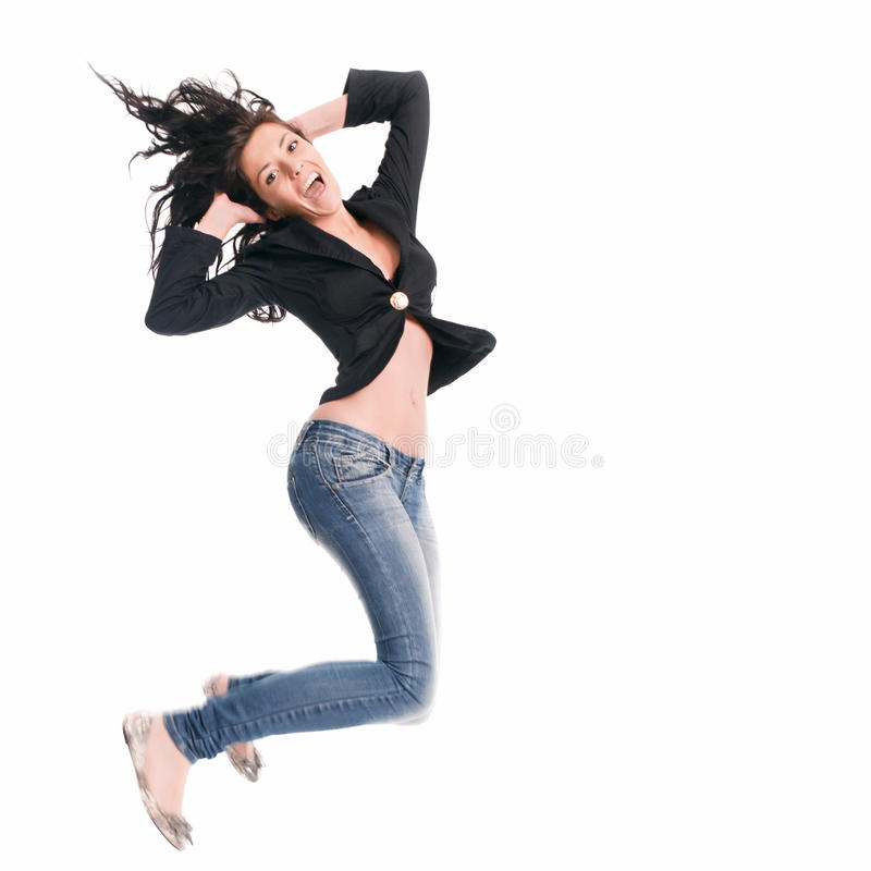 Jumping stock image