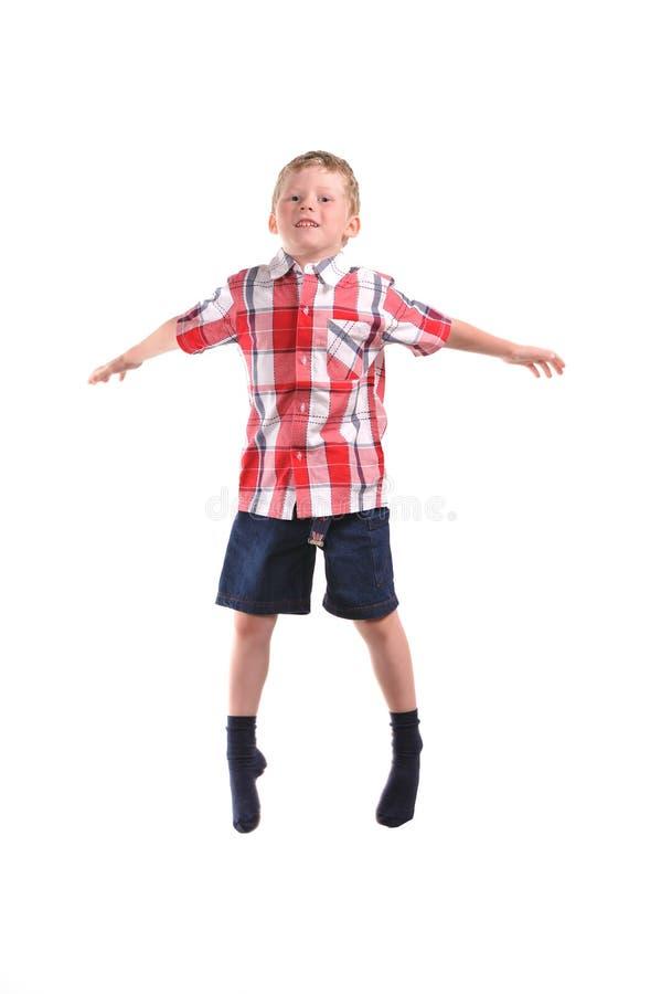 Jumping boy royalty free stock image