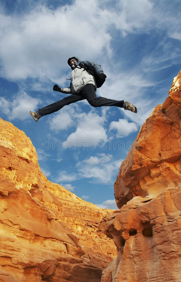Download Jumping boy stock image. Image of rock, heaven, people - 2018809