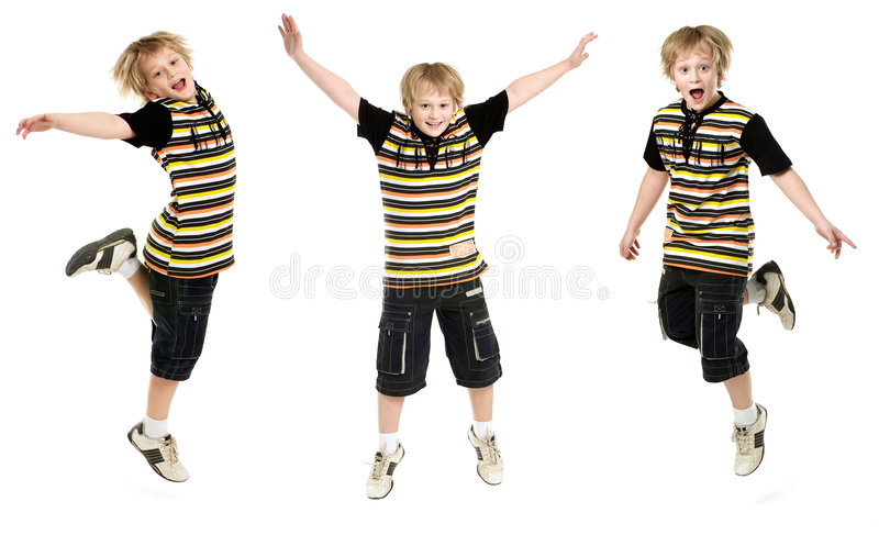 Download Jumping boy stock photo. Image of activity, long, happiness - 5856406