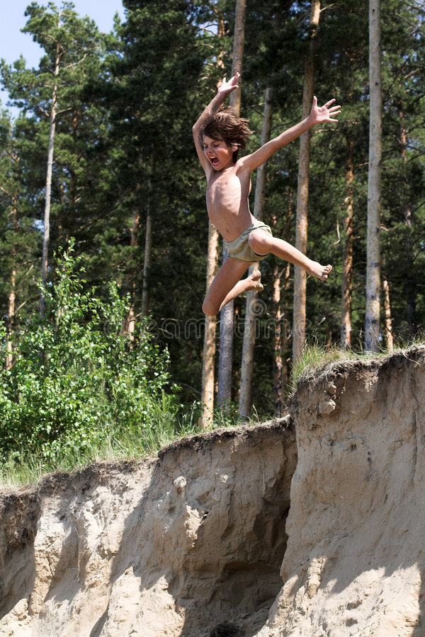 Download Jumping boy stock image. Image of nature, height, flight - 933187