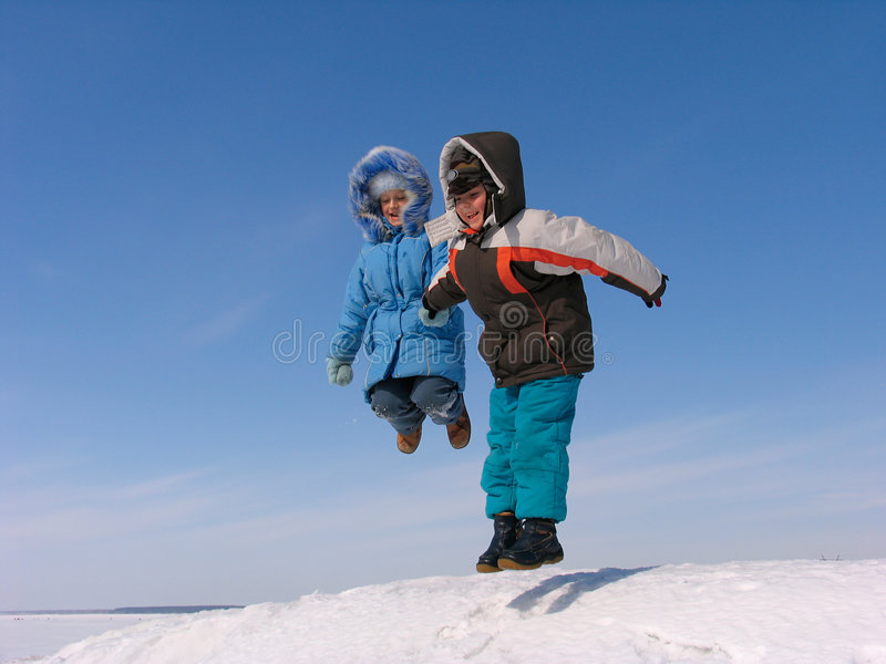 Download Jumping Boy And Girl Stock Photos - Image: 7637373