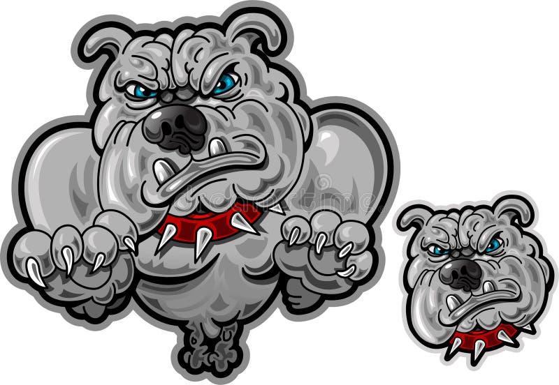 Jumping Bull Dog with Head Shot royalty free illustration
