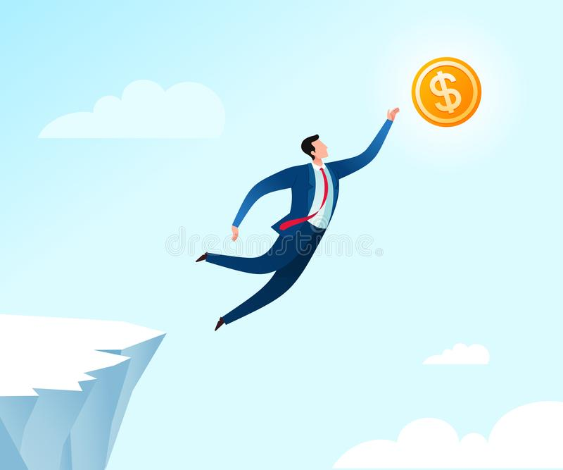 Jumping for business success royalty free illustration