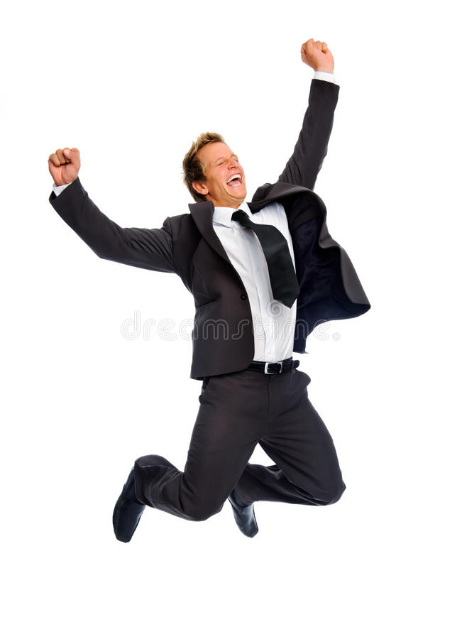 Download Jumping businessman stock photo. Image of formal, carefree - 20163534