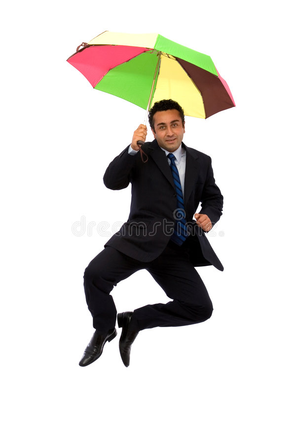 Jumping businessman royalty free stock images