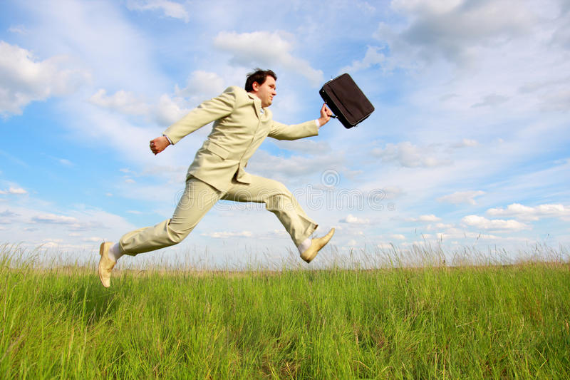 Download Jumping businessman stock photo. Image of green, business - 9511656