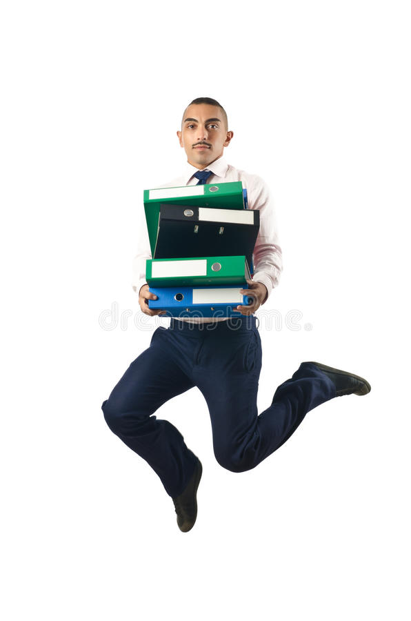 Jumping Businessman In Business Concept Stock Photo