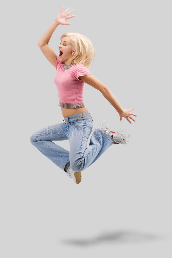 Download Jumping With Clipping Path Royalty Free Stock Image - Image: 12084916