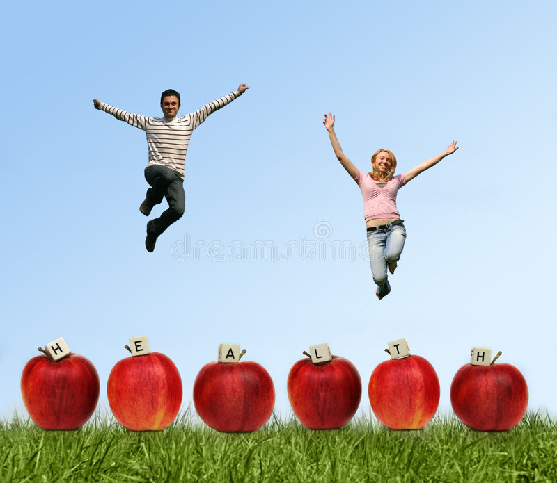 Download Jumping couple stock image. Image of active, fresh, recreation - 2237685