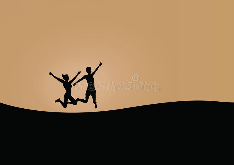 Jumping Couples royalty free stock image