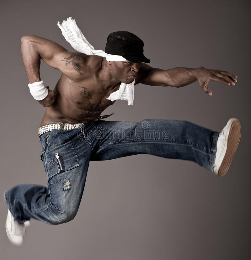 Jumping Dance Royalty Free Stock Image