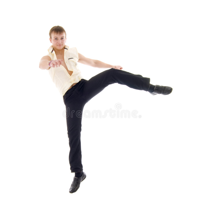 Download Jumping Dance Young Man Stock Image - Image: 7620901