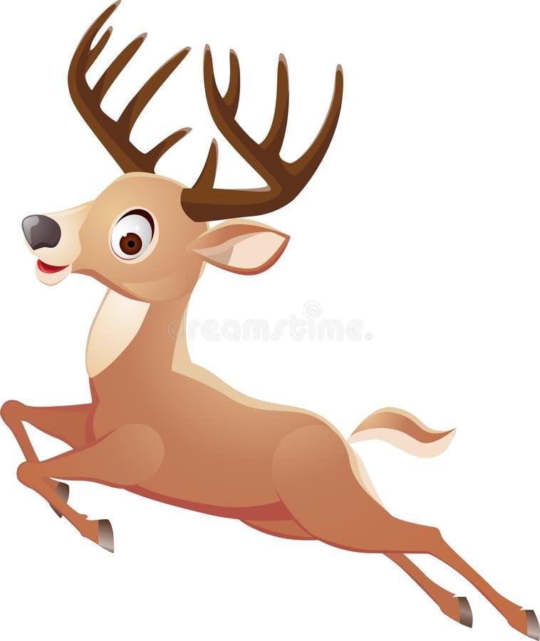 Download Jumping deer stock vector. Illustration of portrait, hunting - 21991618