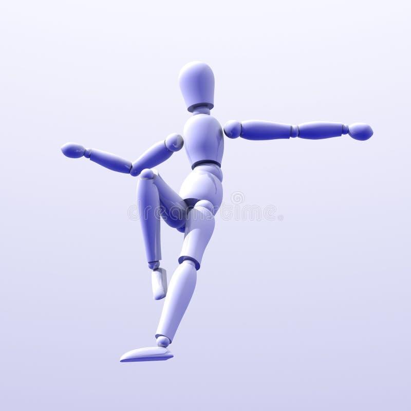 Jumping down 2 vector illustration