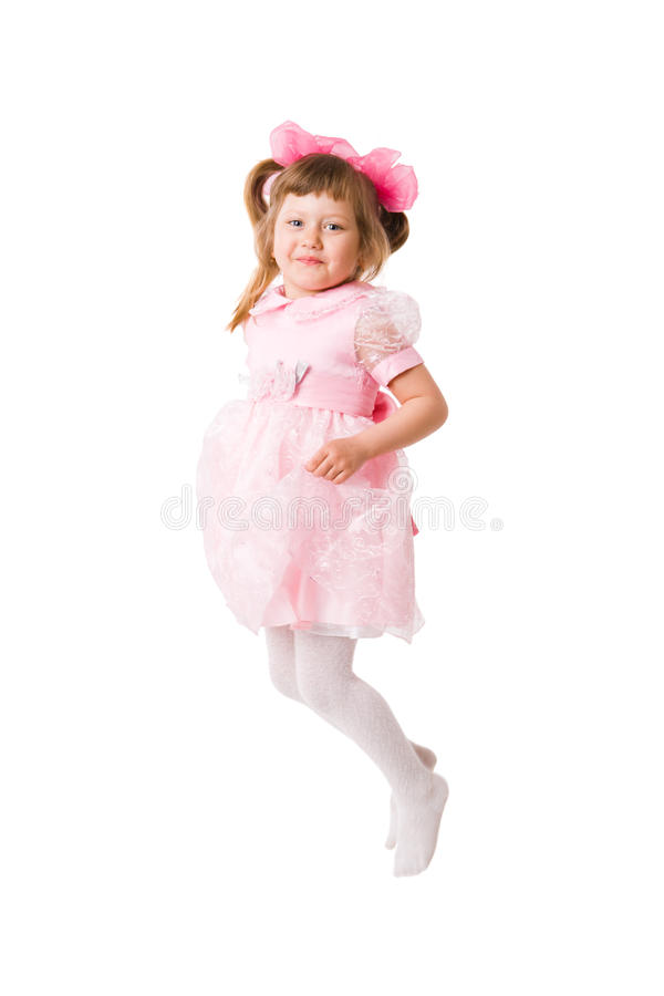 Jumping Excited Girl royalty free stock photo