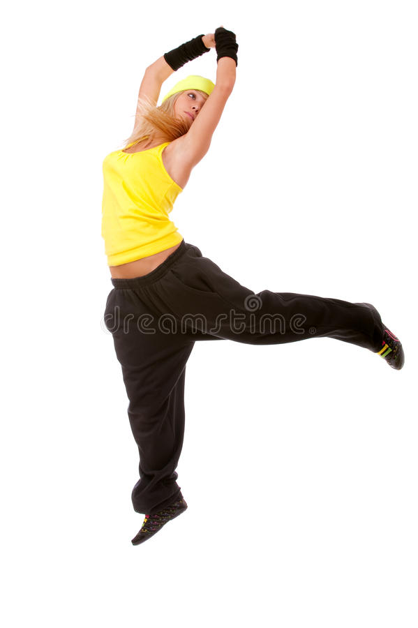 Download Jumping Female Dancer Royalty Free Stock Images - Image: 13168589