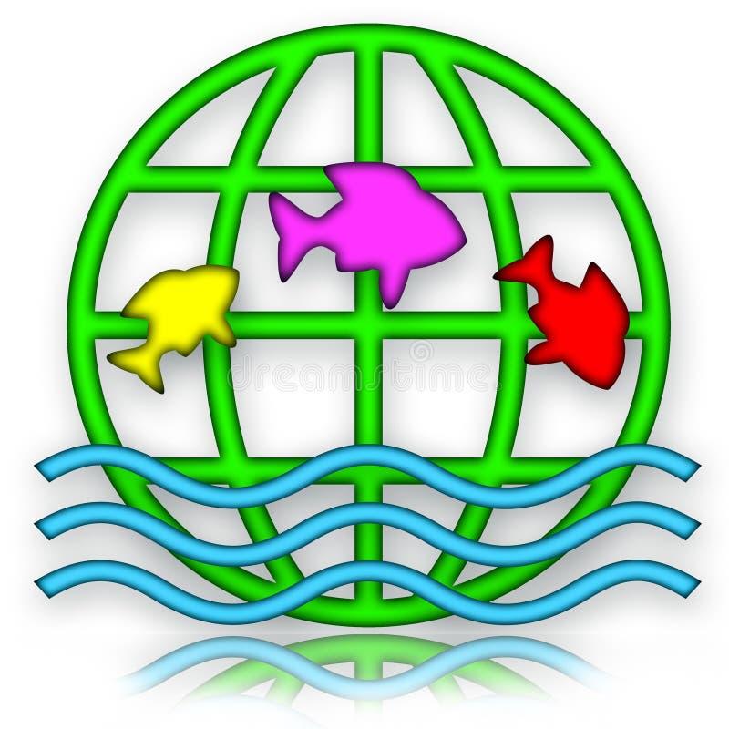 Download Jumping Fishes stock illustration. Image of aquarium - 13139847