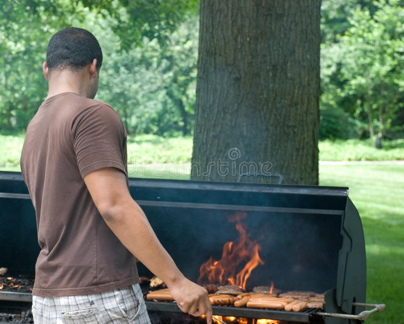 Download Jumping from The Flames 1 stock photo. Image of barbeque - 9962832