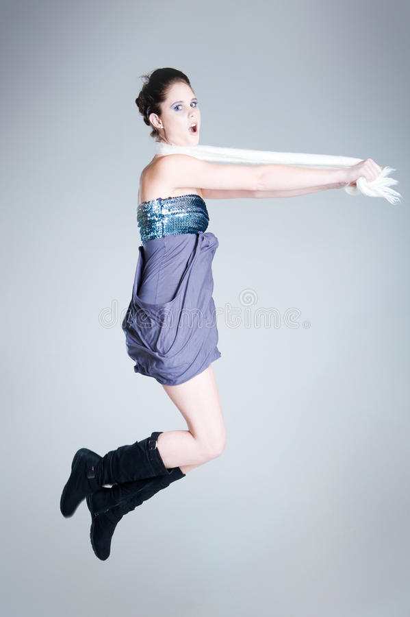 Jumping fun royalty free stock image
