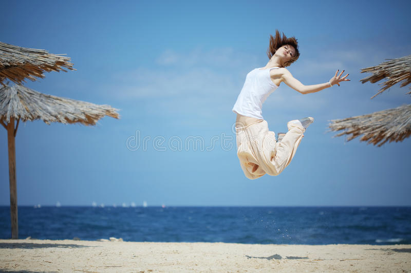 Download Jumping girl stock photo. Image of modern, clothing, freedom - 14090262