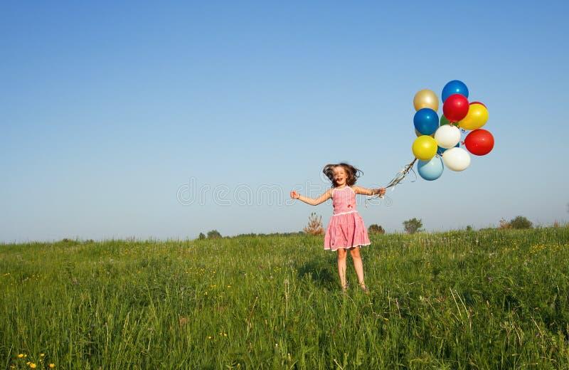 Jumping girl royalty free stock photos