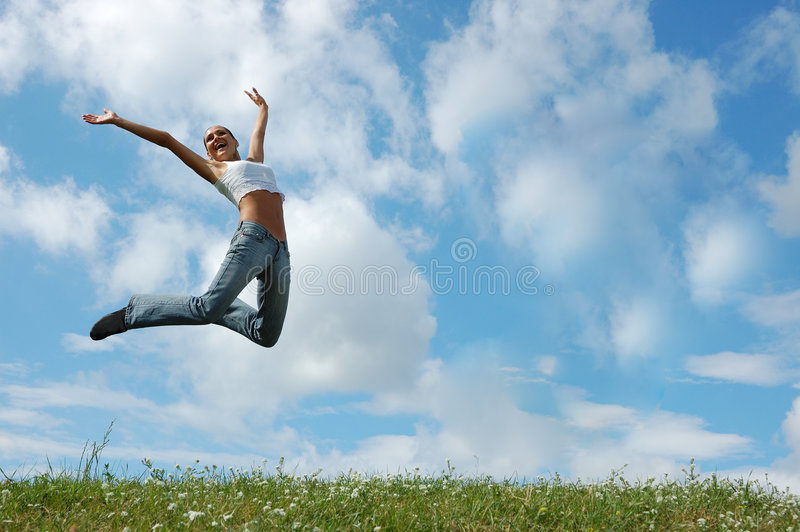 Download Jumping Girl Royalty Free Stock Photos - Image: 4945928