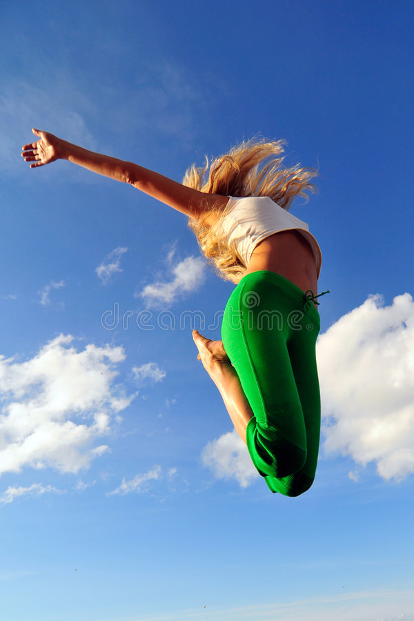 Download Jumping girl stock photo. Image of teen, casual, happiness - 5843110