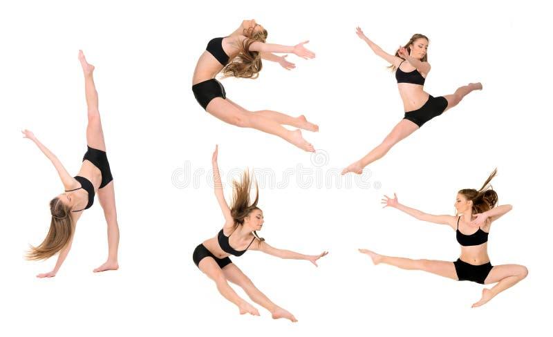 Jumping girl dancer stock illustration