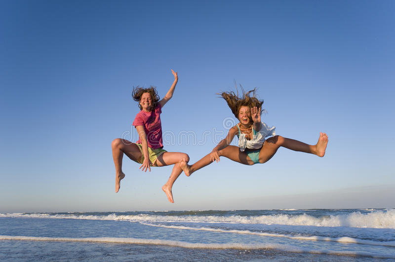 Download Jumping girls stock image. Image of nature, freedom, natural - 11333709