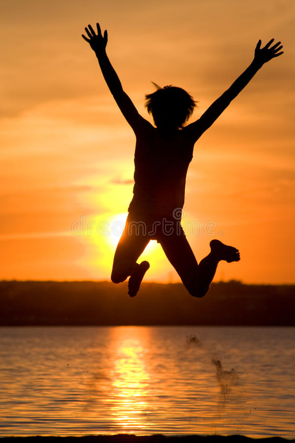 Download Jumping guy stock image. Image of positivity, nature, happiness - 9636599