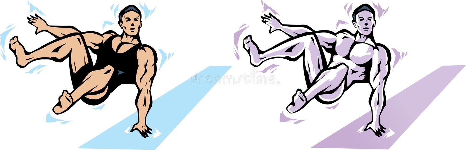 Download Jumping gymnast stock vector. Illustration of dynamic - 17138210