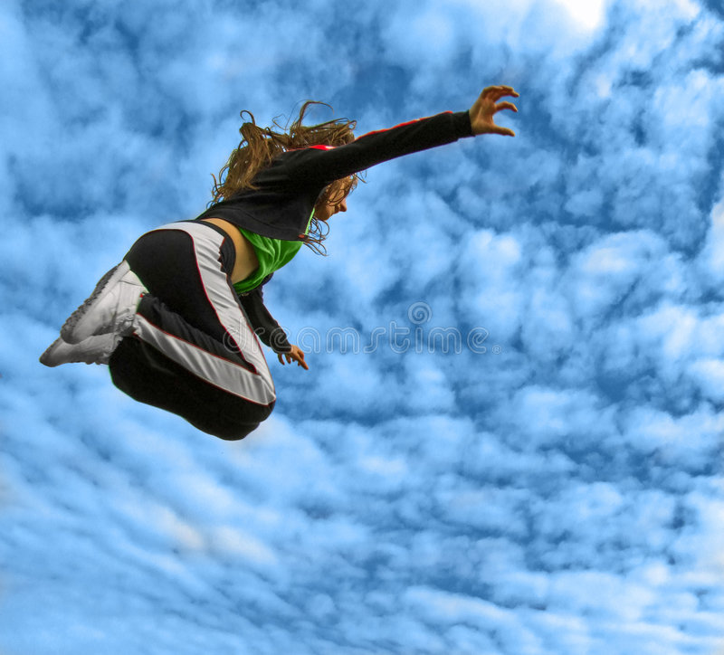 Download Jumping High stock photo. Image of exercise, flight, active - 6653994