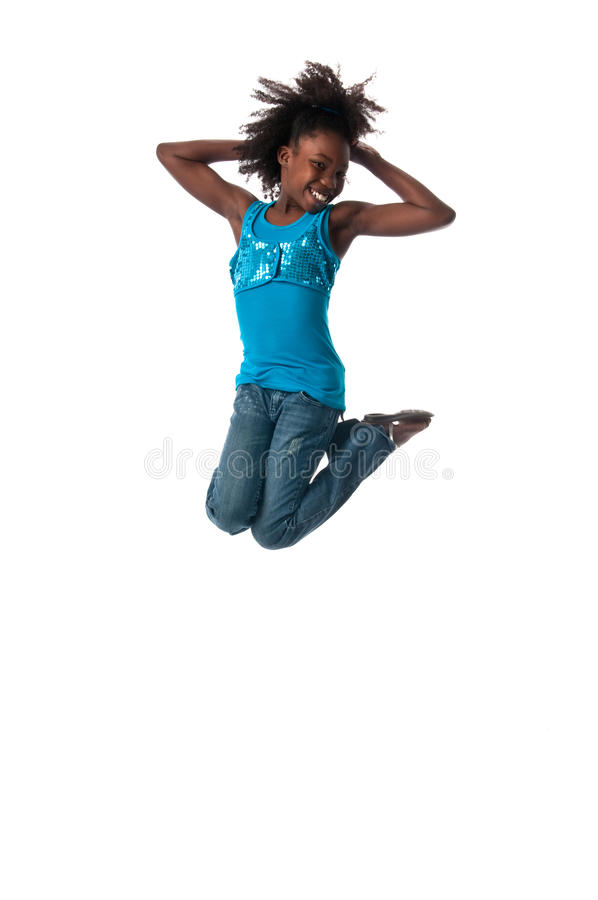 Jumping high stock image