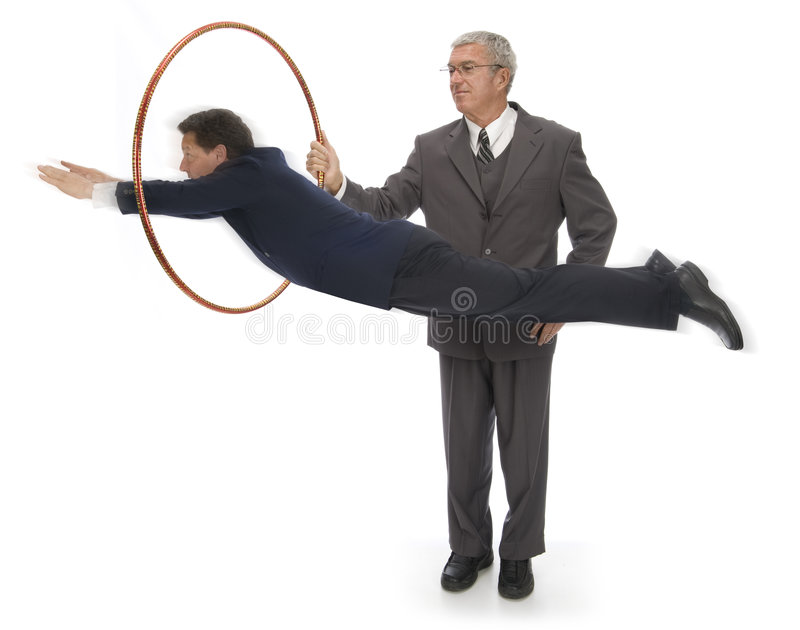 Jumping Through Hoops stock image