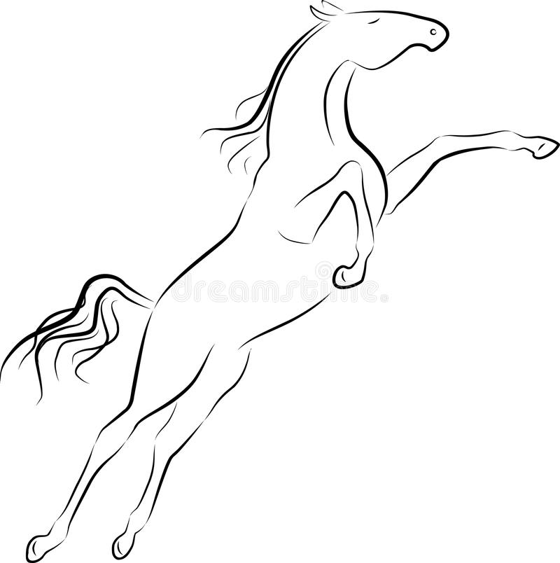 Jumping horse royalty free illustration