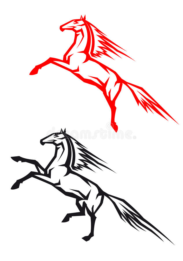 Download Jumping horses stock vector. Image of beast, horse, gallop - 24337638