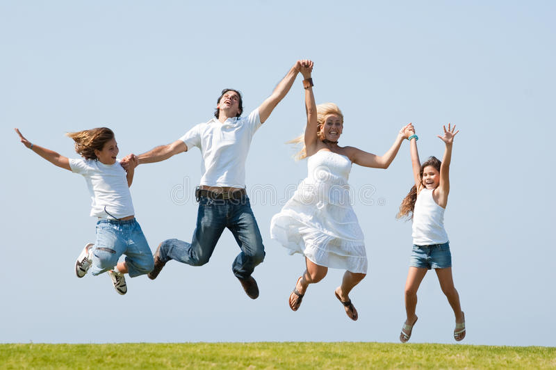 Download Jumping of joy stock photo. Image of daughter, beautiful - 11309508