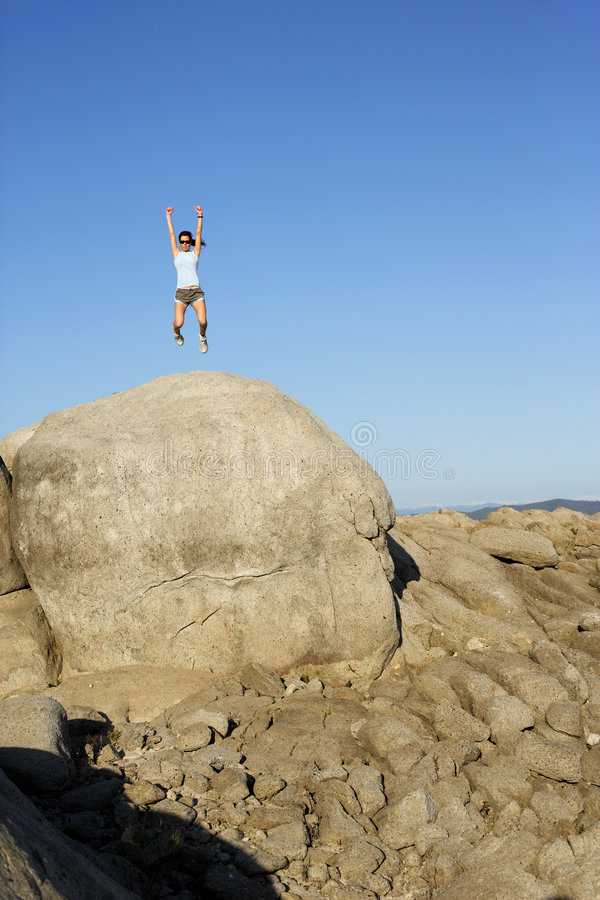 Download Jumping for Joy stock photo. Image of action, female, enjoying - 4766434