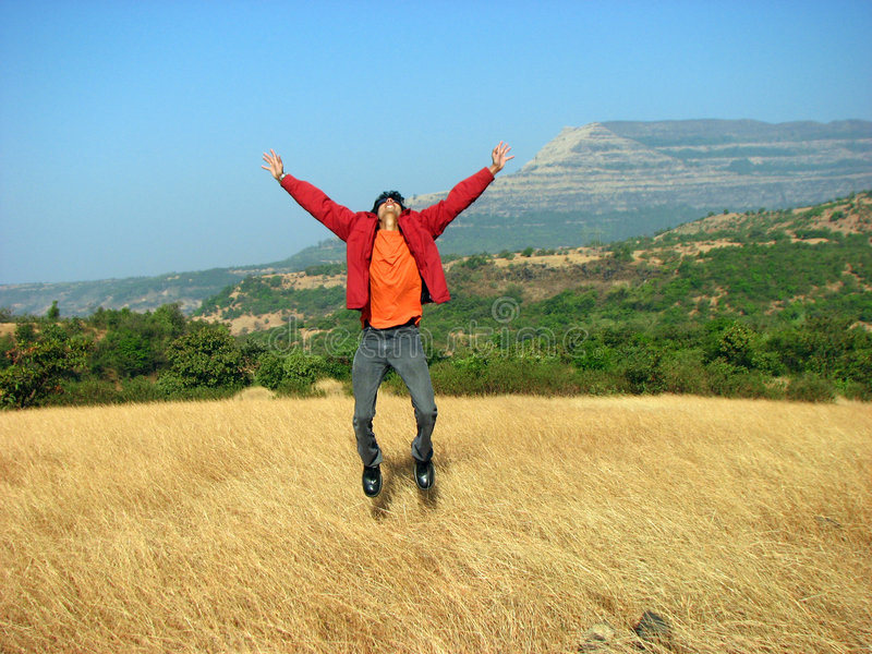 Download Jumping with Joy stock photo. Image of golden, achieve - 5536182