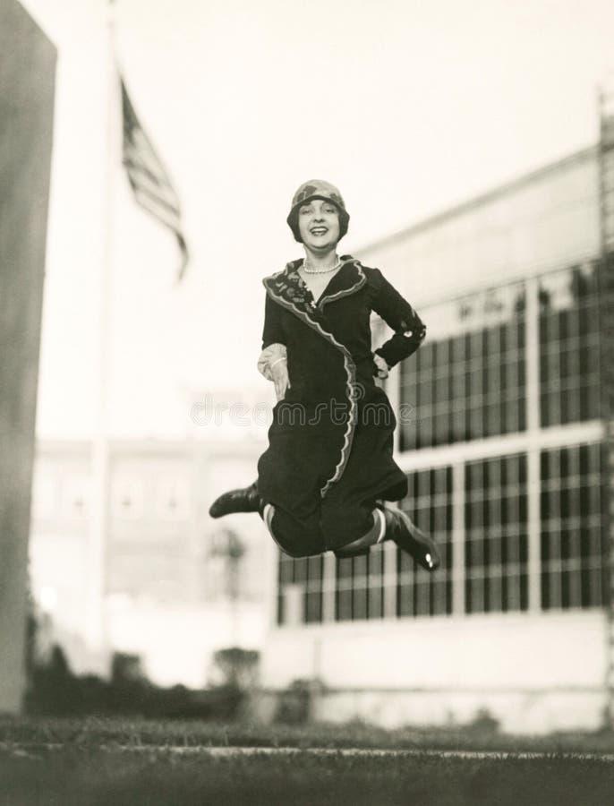 Jumping for joy royalty free stock photos