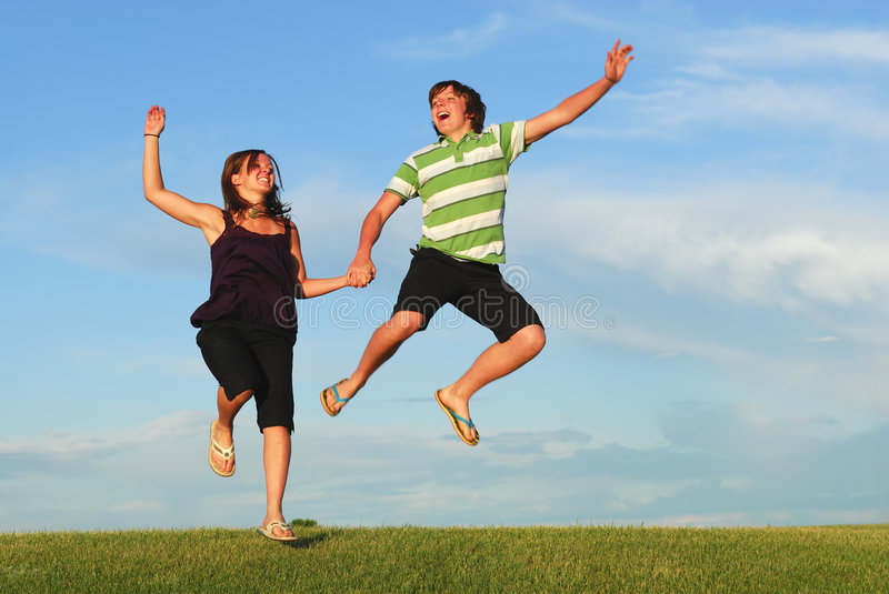 Download Jumping for Joy stock photo. Image of adventure, frolick - 6907258