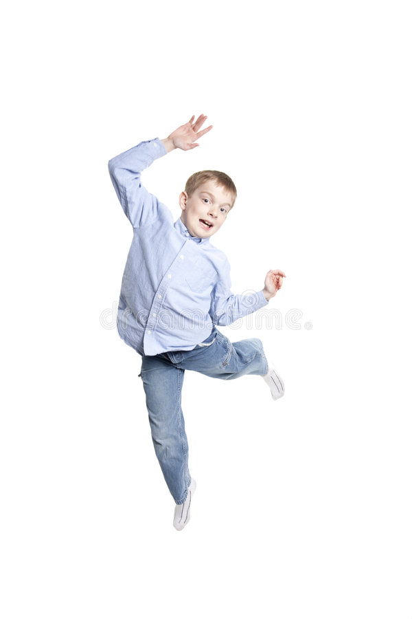 Download Jumping for joy stock image. Image of buttoned, happy - 8950289