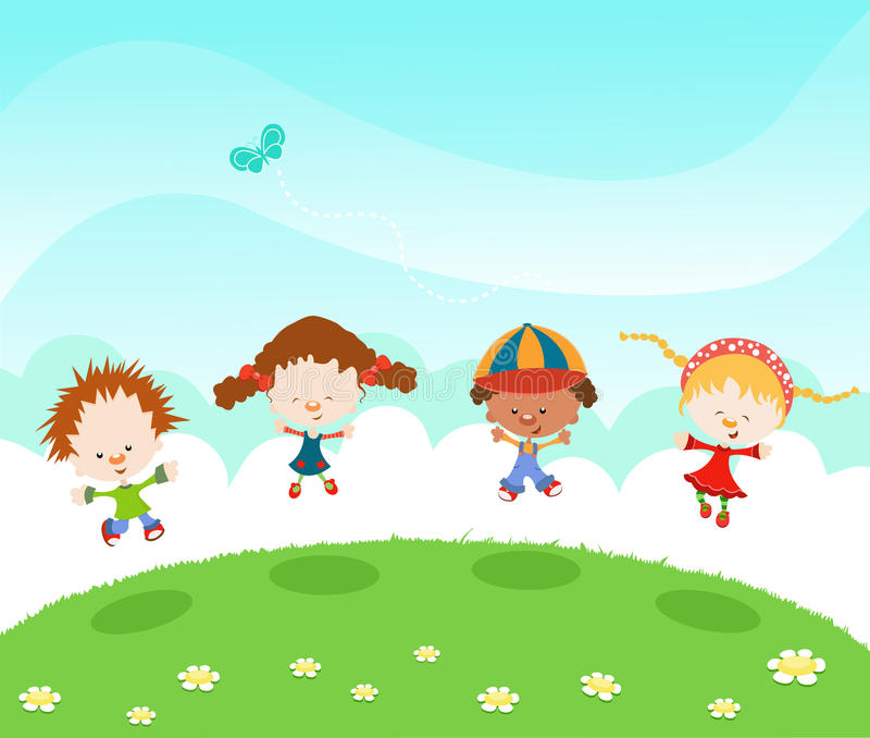 Download Jumping Kids Stock Photography - Image: 20763812